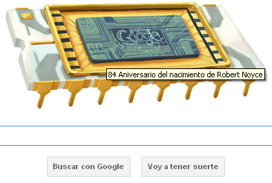 Google homenajea a Robert Noyce y su chip